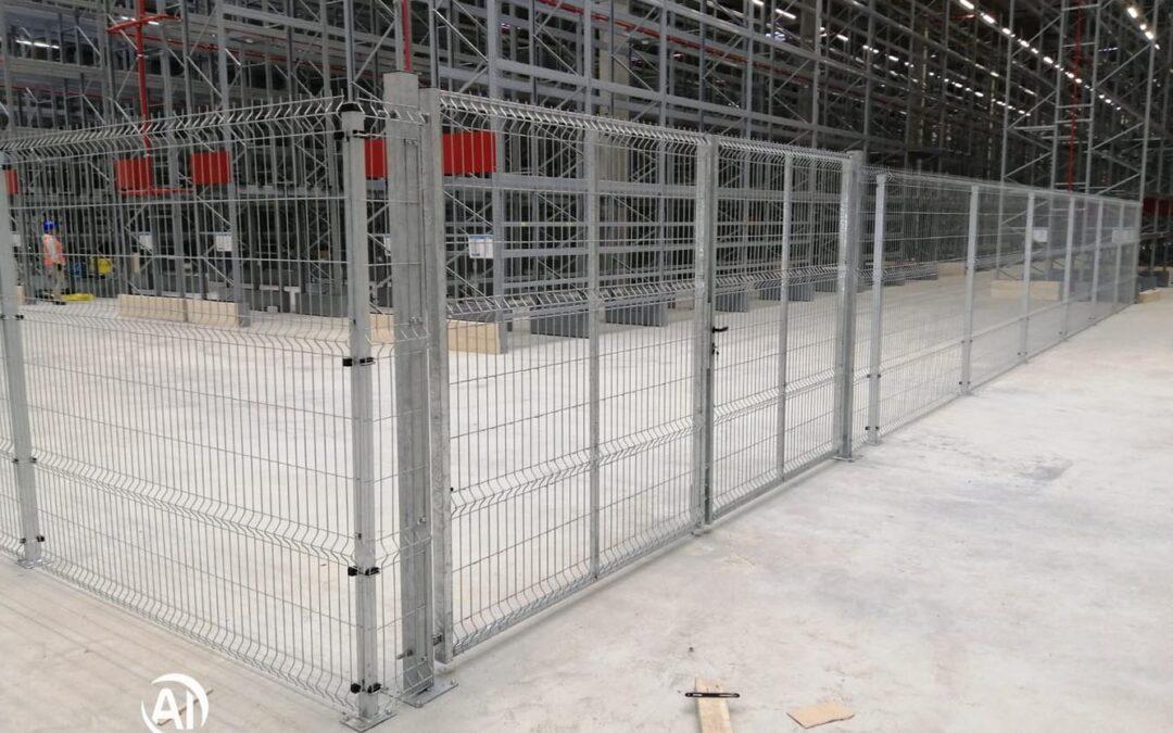 Oplocení skladu IKEA na brněnském letišti